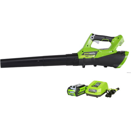 Greenworks 40V 110 MPH - 390 CFM Cordless Jet Blower, 2 0 AH Battery  Included 2400802