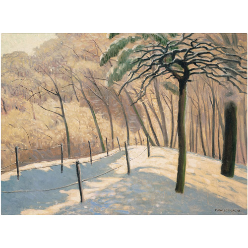"Trademark Fine Art ""Snowy Landscape"" 1925 Canvas Art by Felix Vallotton"