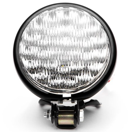 "Krator 5"" Black LED Headlight with Light Mounting Bracket for Harley Davidson Sportster Nightster Roadster 1200 - image 1 of 7"