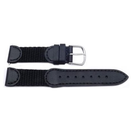 Genuine Swiss Amy Short Black Leather 17mm Leather Watch Strap