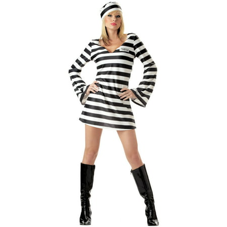 Convict Chick Adult Costume](Rocker Chick Costume)