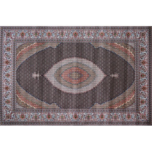 Astoria Grand Nectar Hand Look Persian Wool Red/Ivory/Brown Area Rug