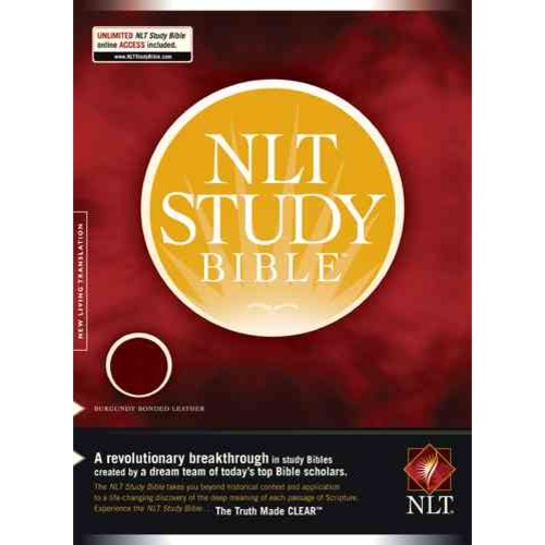 New Living Translation Study Bible, Burgundy, Bonded Leather
