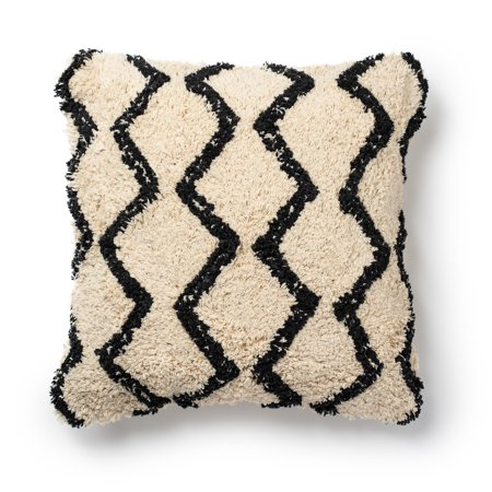 Better Homes & Gardens Abstract Diamond Shag Throw Pillow, 18
