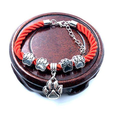 Hand-Woven Rope Chain rope Bracelets dog paw best friend Charms Bracelets Jewelry  for women