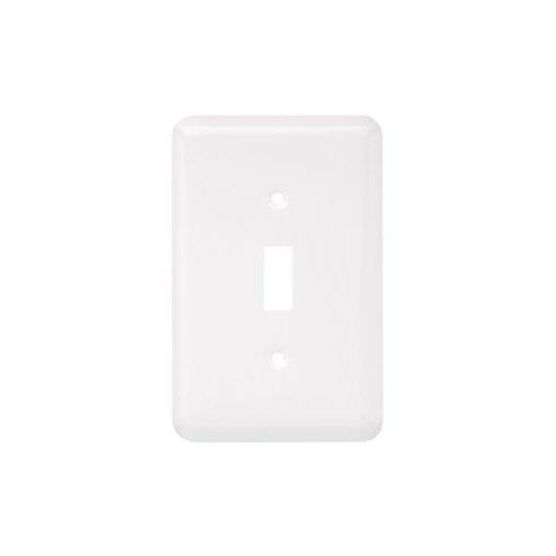 Liberty Hardware  64345  Switch Plates  Stamped Round  Accessory  Single  ;White