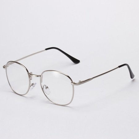 Men Women Vintage Metal Myopia Eyewear Square Optical Glasses Retro Frame Retro (Optical Glasses Frames)