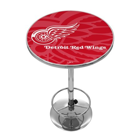 NHL Chrome Pub Table - Watermark - Detroit Redwings Detroit Lions Pub Table