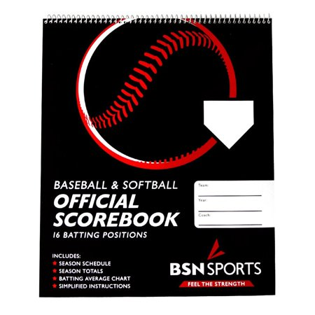 Bsn Baseball Softball Scorebook  Ideal For Baseball Or Softball  Each Book Scores 26 Games With 16 Batting Positions And 9 Innings    By Bsn Sports