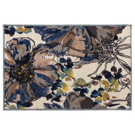 Dynamic Rugs Cream (Modern Bright Flowers Non-Slip (Non-Skid) 20