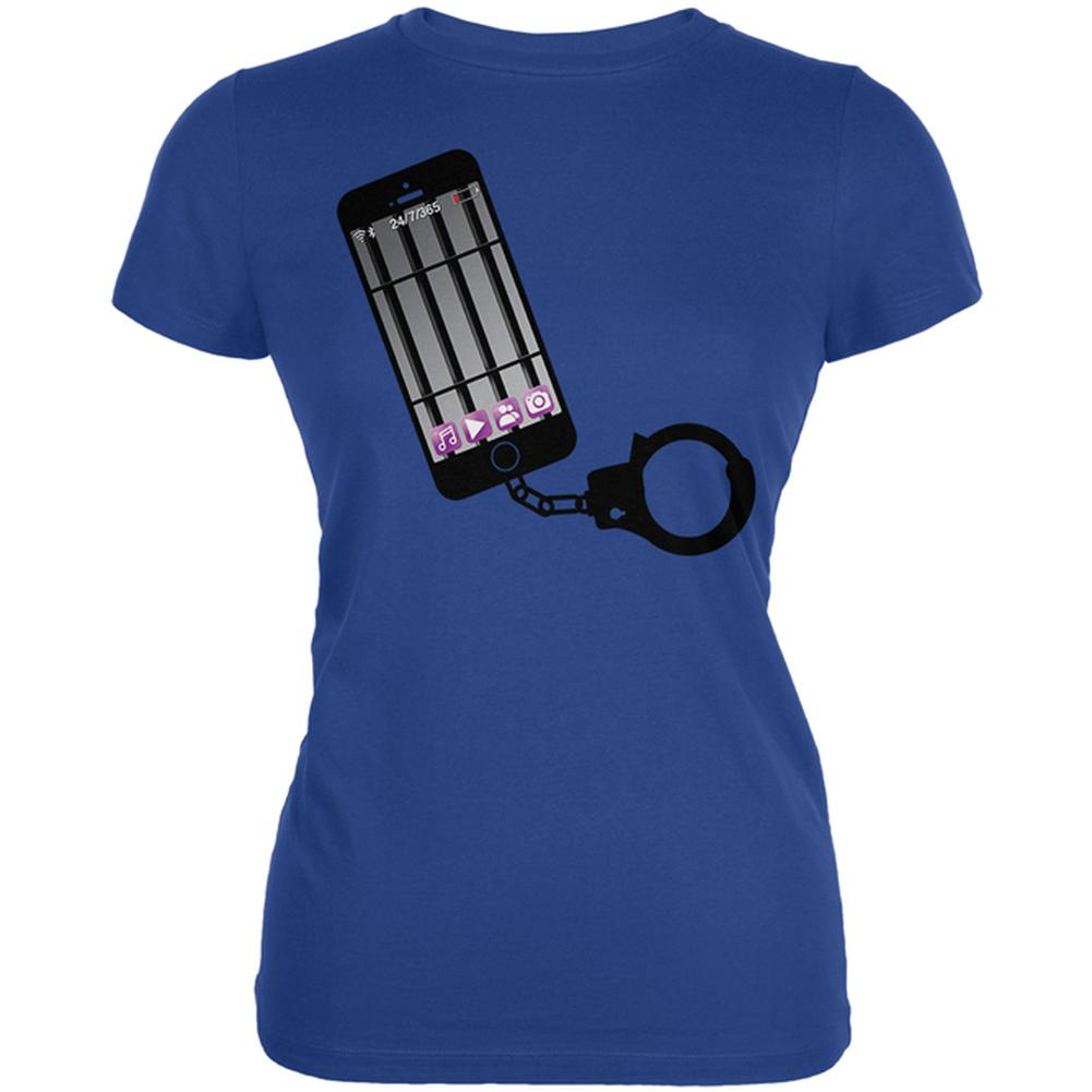 Prisoner to Your Cell Phone Juniors Soft T Shirt