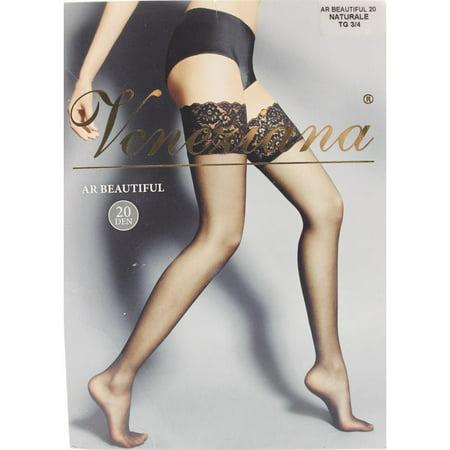 9dfda9d15 Veneziana - Veneziana Womens Sheer Lace Thigh-High Stockings ...