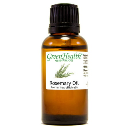 Rosemary Essential Oil - 1 fl oz (30 ml) Glass Bottle w/ Euro Dropper - 100% Pure Essential Oil by GreenHealth ()
