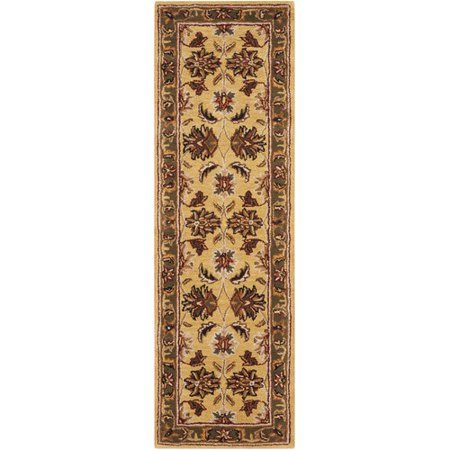 Nourison Hand Tufted India House Gold Wool Rug 2 3 X 7 6 Runner