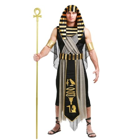 All Powerful Pharaoh Mens Costume - Pharaoh Headpiece
