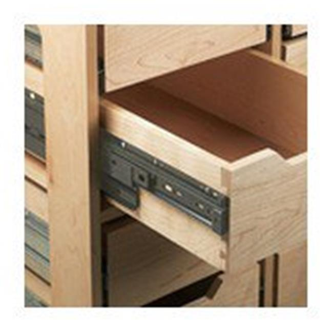 26 in. Ball Bearing Drawer Slide, Cabinet LeftHand - Anochrome