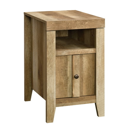Sauder Dakota Pass Modern Farmhouse End Table, Craftsman Oak Finish