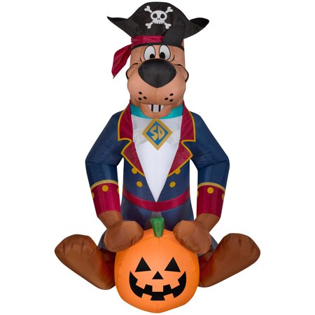 Halloween Airblown Inflatable 4 ft. Scooby as Pirate by Gemmy Industries for $<!---->