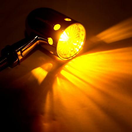 2pcs Chrome Motorcycle Turn Signals Blinker Lights For Honda Shadow Aero Phantom VLX 750 1100 - image 1 of 6