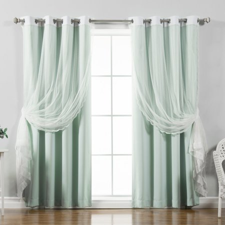 Best Home Fashion Zigzag Solid Blackout Mix & Match Curtain