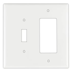 Cooper 5134w White Unbreakable Single Gang Toggle Light Switch Wall Plate Pack Of 10 Walmart Com Walmart Com