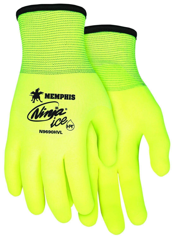 """MCR SAFETY Coated Gloves,3/4 Dip,XL,10-3/4"""",PR N9690HVXL"""