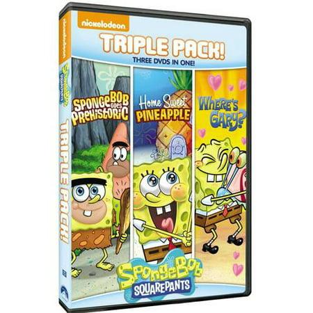 SpongeBob SquarePants Triple Feature: SpongeBob Goes Prehistoric / Home Sweet Pineapple / Where's Gary? (Full Frame)