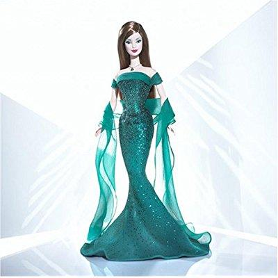 Barbie doll may emerald birthstone collection by Mattel by