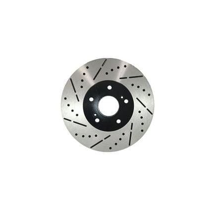 [Front Drill&Slot Brake Rotors Ceramic Pads] Fit 09-11 Hyundai Genesis Sedan V6 - image 2 of 2