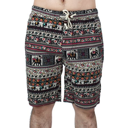 5b2e35d61df Unique Bargains - Men Summer Water Sports Swimming Linen Beach Swim Trunk  Surf Board Shorts #1 - Walmart.com