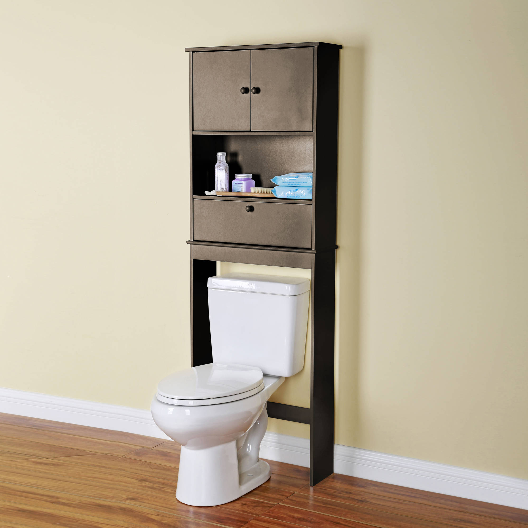 mainstays bathroom wall cabinet the toilet space saver shelf espresso walmart 19379