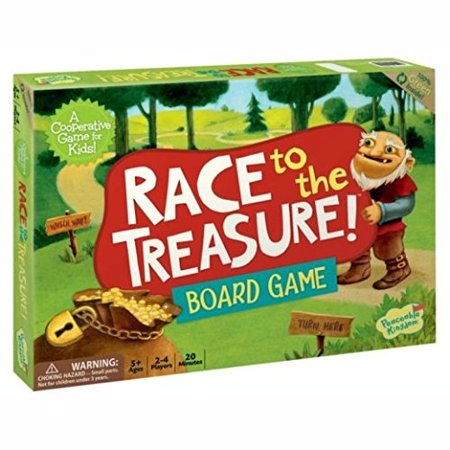 Peaceable Kingdom Race to the Treasure! Award Winning Cooperative Game for - Treasure Hunt Halloween Game