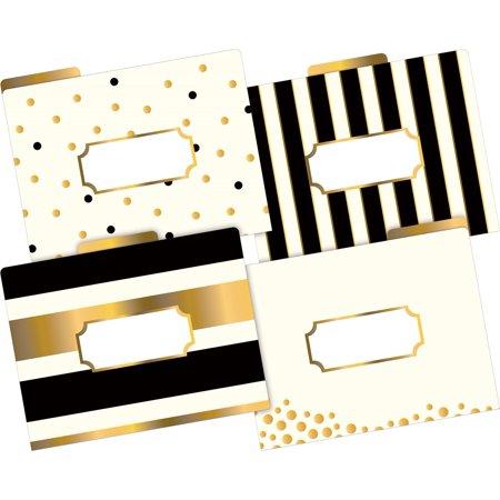 Barker Creek Letter-Size File Folders - Gold • Multi-Design Set (LL-1337)