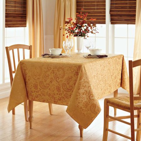 Better Homes And Gardens Paisley Damask Tablecloth Tan
