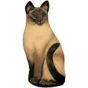 Fiddler's Elbow Siamese Cat Fabric Weighted Floor Stop