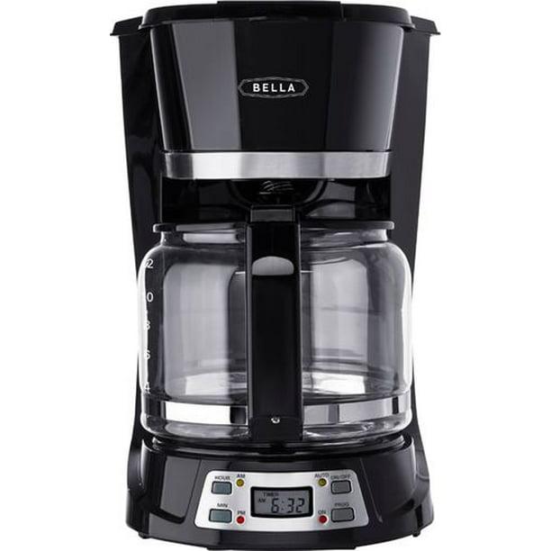 Bella - 12-Cup Coffee Maker - Black/Stainless Steel ...
