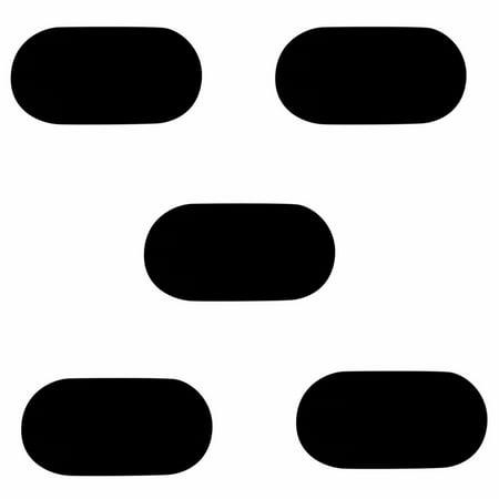 Velvet Pad Tray Insert (5 Pc 4'' x 7'' Small Oval Jewelry Black Velvet Padded Pad Display Insert Tray Jeweler )