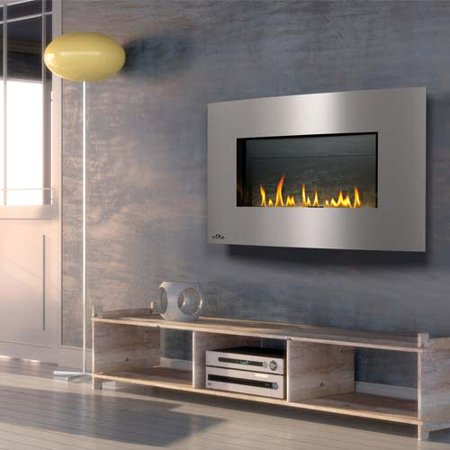 Napoleon Whd31sb 20000 Btu Wall Mount Direct Vent Natural Gas Fireplace