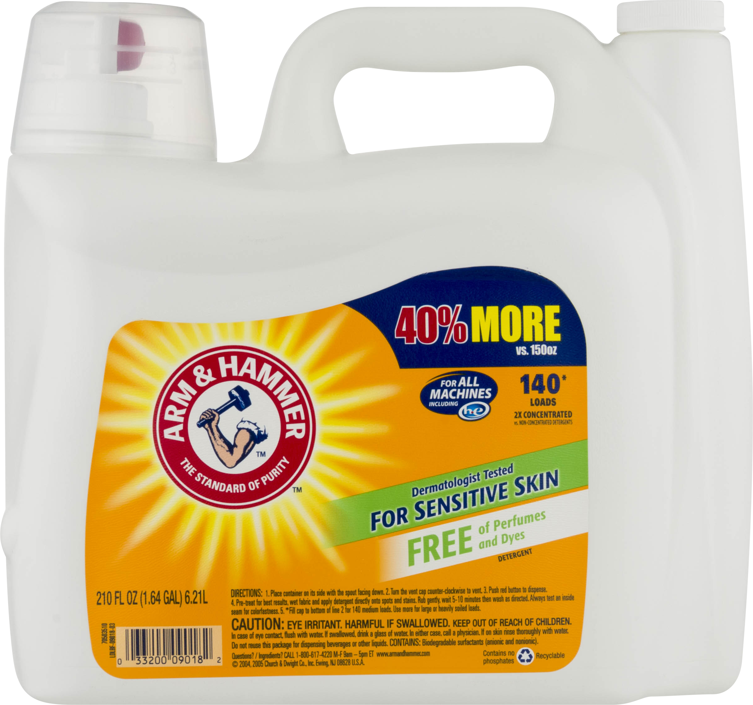 Arm & Hammer Detergent for All Machines For Sensitive Skin, 210 Oz
