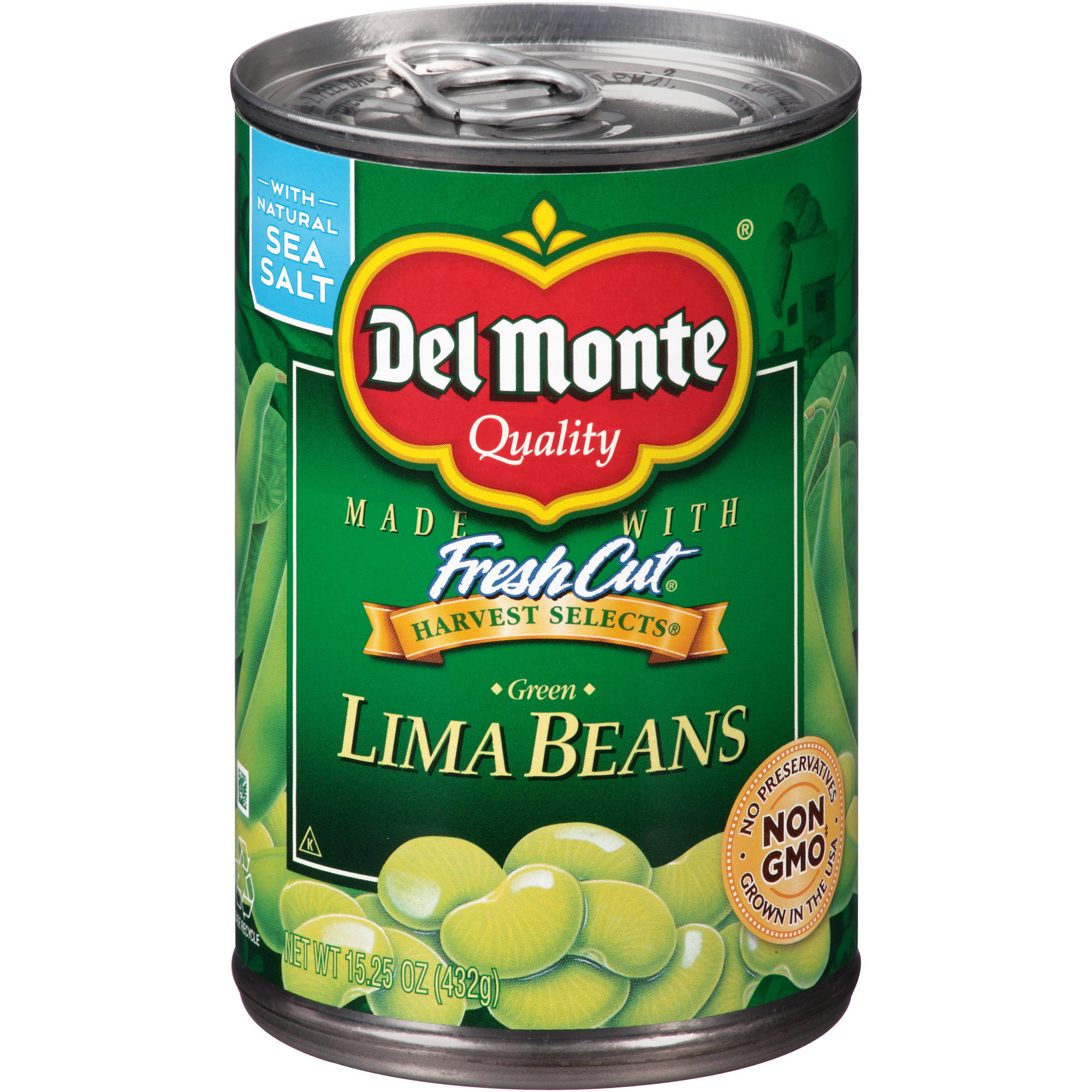 Del Monte Harvest Selects Green Lima Beans, 15.25 oz