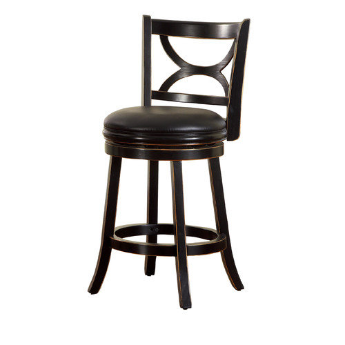 Hokku Designs Caramen 25'' Swivel Bar Stool with Cushion