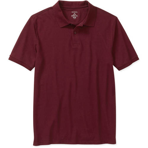 George Young Men's Short Sleeve Polo with Scotchgard