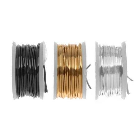 Artistic Wire  3 Pack Craft Wire Assorted Variety Pack   Silver  Brass  Gun Metal Hematite 22 Ga  15 Yds