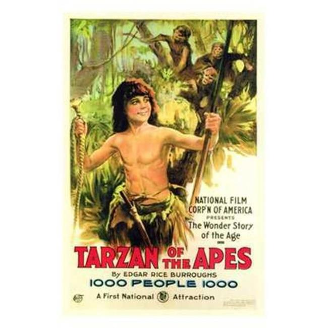 Posterazzi MOV143131 Tarzan of the Apes C.1917 - Style a Movie Poster - 11 x 17 in. - image 1 of 1