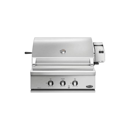 """Image of """"BH1-30R-N 30"""""""" Traditional Built-In Natural Gas Grill with 2 Stainless Steel U Burners 1 Rotisserie Ceramic Radiant Technology Temperature Gauge Drip Pan and Grill Light in Stainless Steel"""""""