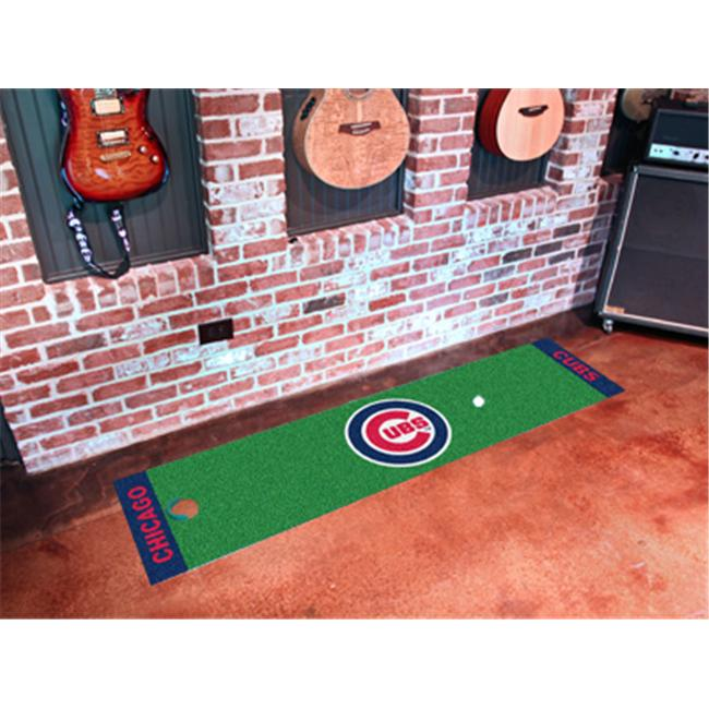 FANMATS 9039 Chicago Cubs Putting Green Runner 24 inch x 96 inch
