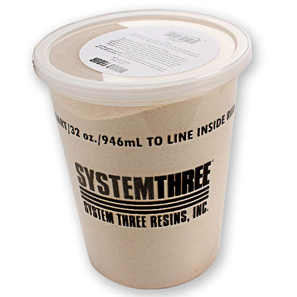 System Three 3110S16 Brown Wood Flour, 1 Quart Tub