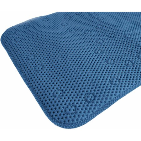 "Splash Home Soft Bathtub Mats Non-Slip Mildew Resistant Extra Long Machine-Washable With 58 Strong Suction Cups, 17"" x 36"" Inch"