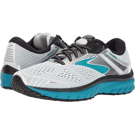 Brooks Women's Adrenaline GTS 18 Running Shoe, White/Black/Teal, 5.5 B(M) US (Womens Brooks Adrenaline Gts)