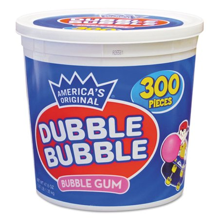 - Dubble Bubble Bubble Gum, Original Pink, 300/Tub -TOO16403